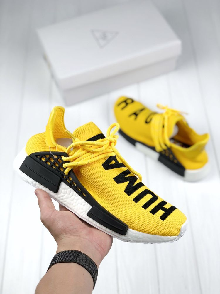 best sneakers 06a85 94db5 Adidas NMD Human Race Pharell William yellow
