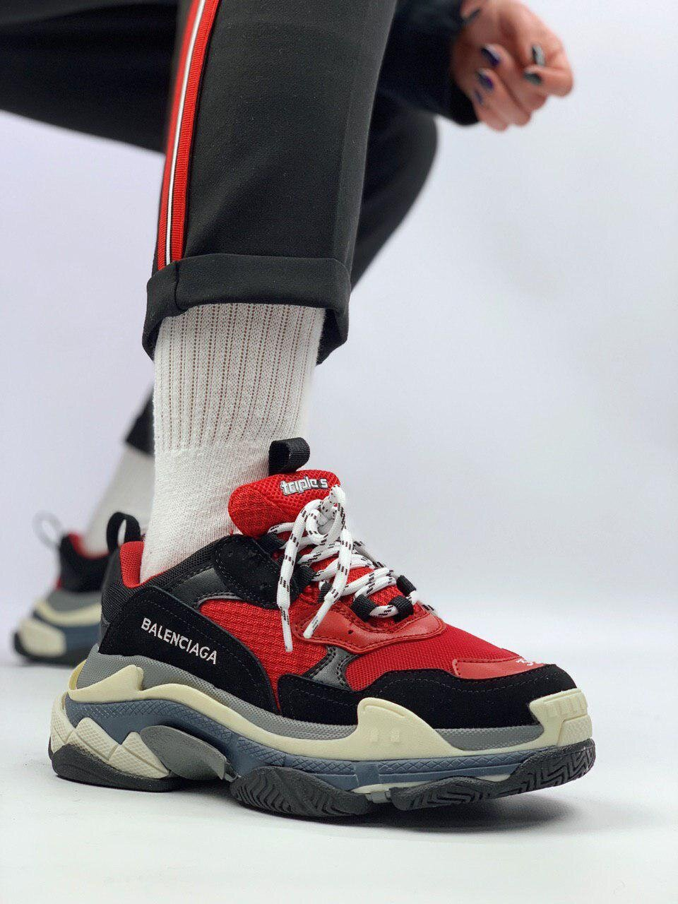 Balenciaga Triple S Black Red 2 ( Реплика ААА+ ), 36