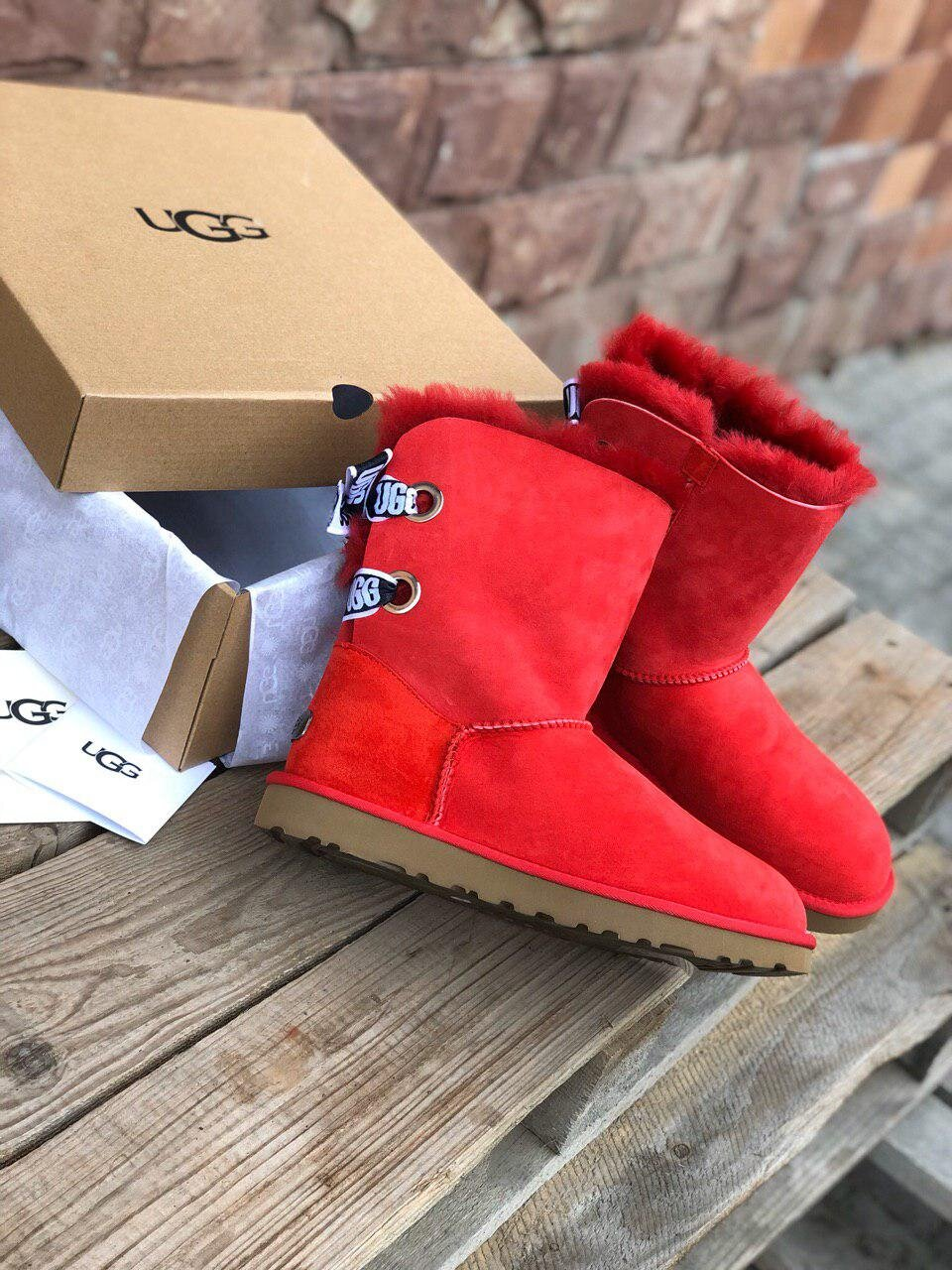 UGG Bailey Bow Short Red ( Реплика ААА+ ), 36