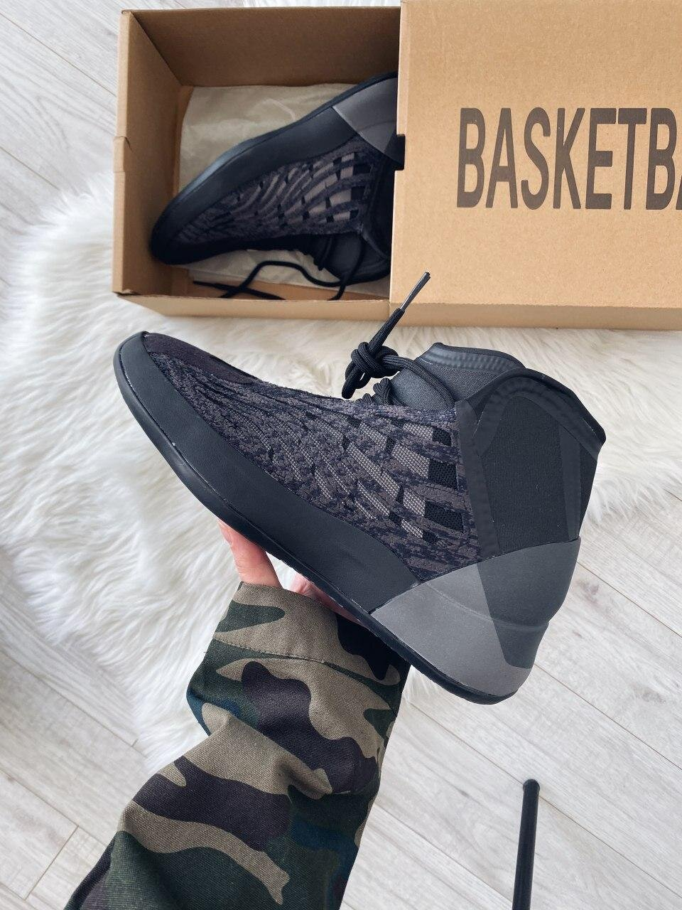 Adidas Yeezy Basketball Triple Black ( Реплика ААА+ ), 41