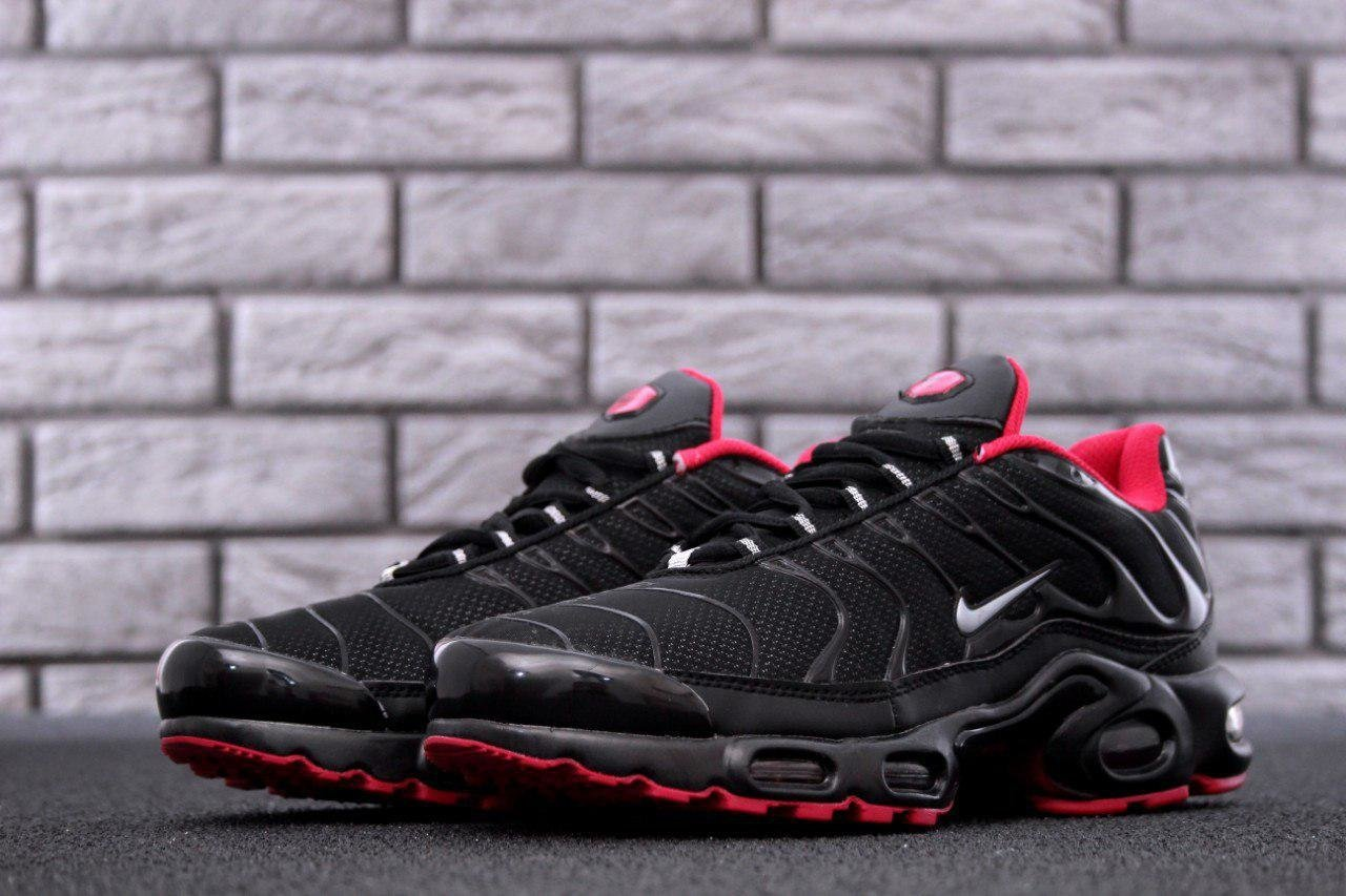 Кроссовки NK Air Max Tn Shadow Black and Red ( Реплика ААА+ ), 41