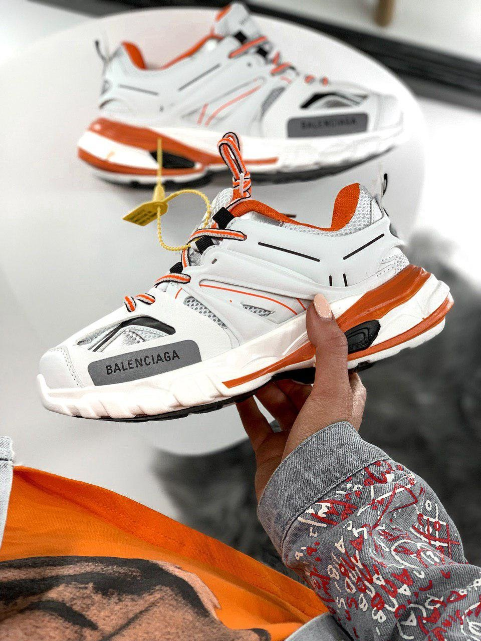 Balenciaga Track White Orange ( Реплика ААА+ ), 41