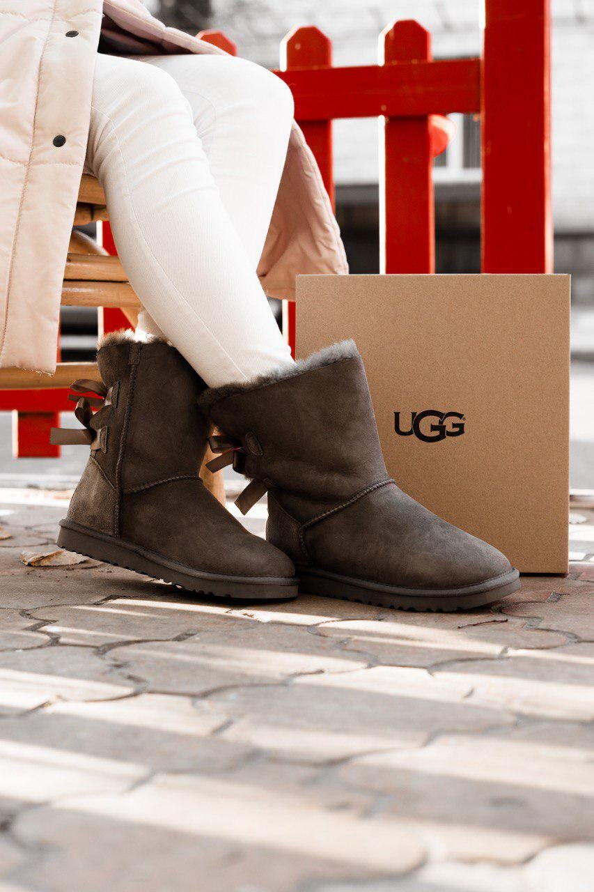 UGG Bailey Bow Grey 2 ( Реплика ААА+ ), 36