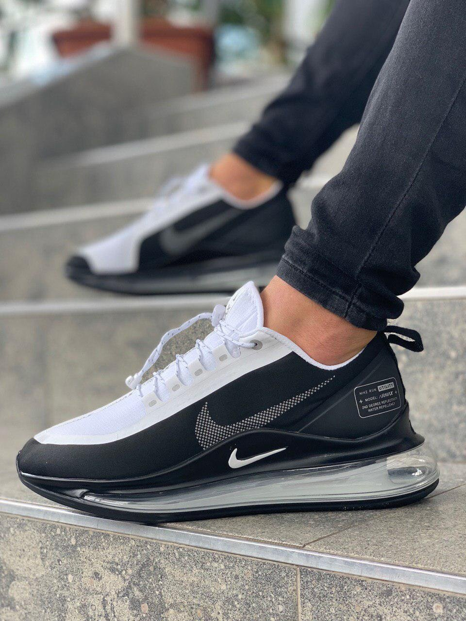 Кроссовки NK Air Max 720 Shadow Black and White ( Реплика ААА+ ), 41