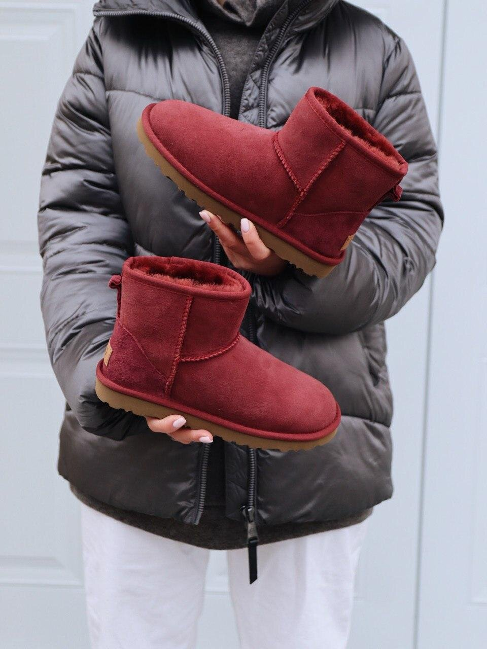 UGG Mini Wine Red ( Реплика ААА+ ), 36
