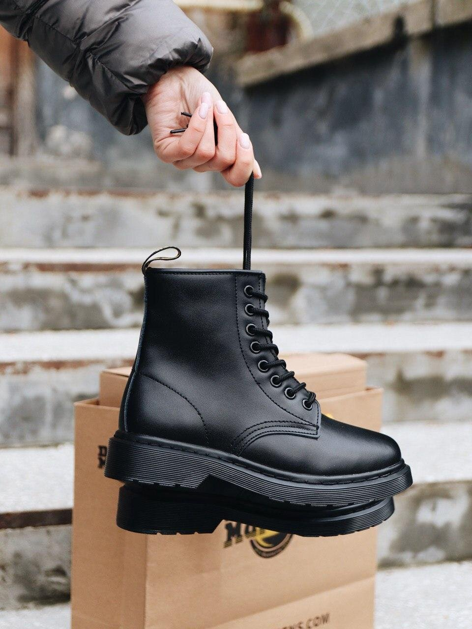 Dr. Martens Full Black Fur ( Реплика ААА+ ), 36