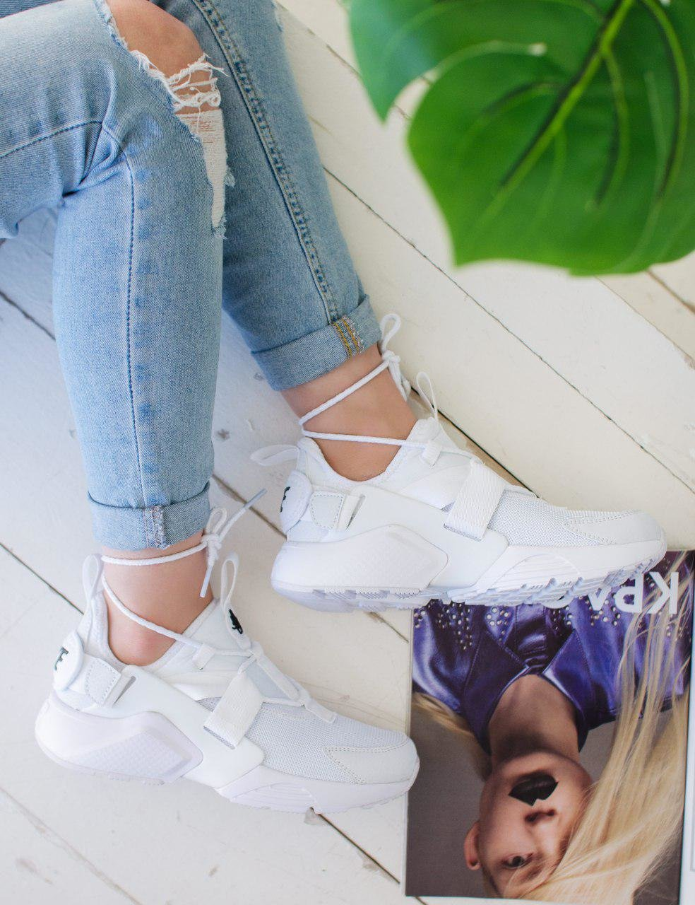 Кроссовки NK Huarache City Low White ( Реплика ААА+ ), 36