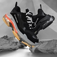 Balenciaga Triple S Clear Sole Black Red ( Реплика ААА+ ), 41