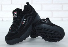 FILA Disruptor II Black FUR Winter, 36