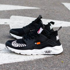 Кроссовки NK Huarache Off White Black ( Реплика ААА+ ), 36