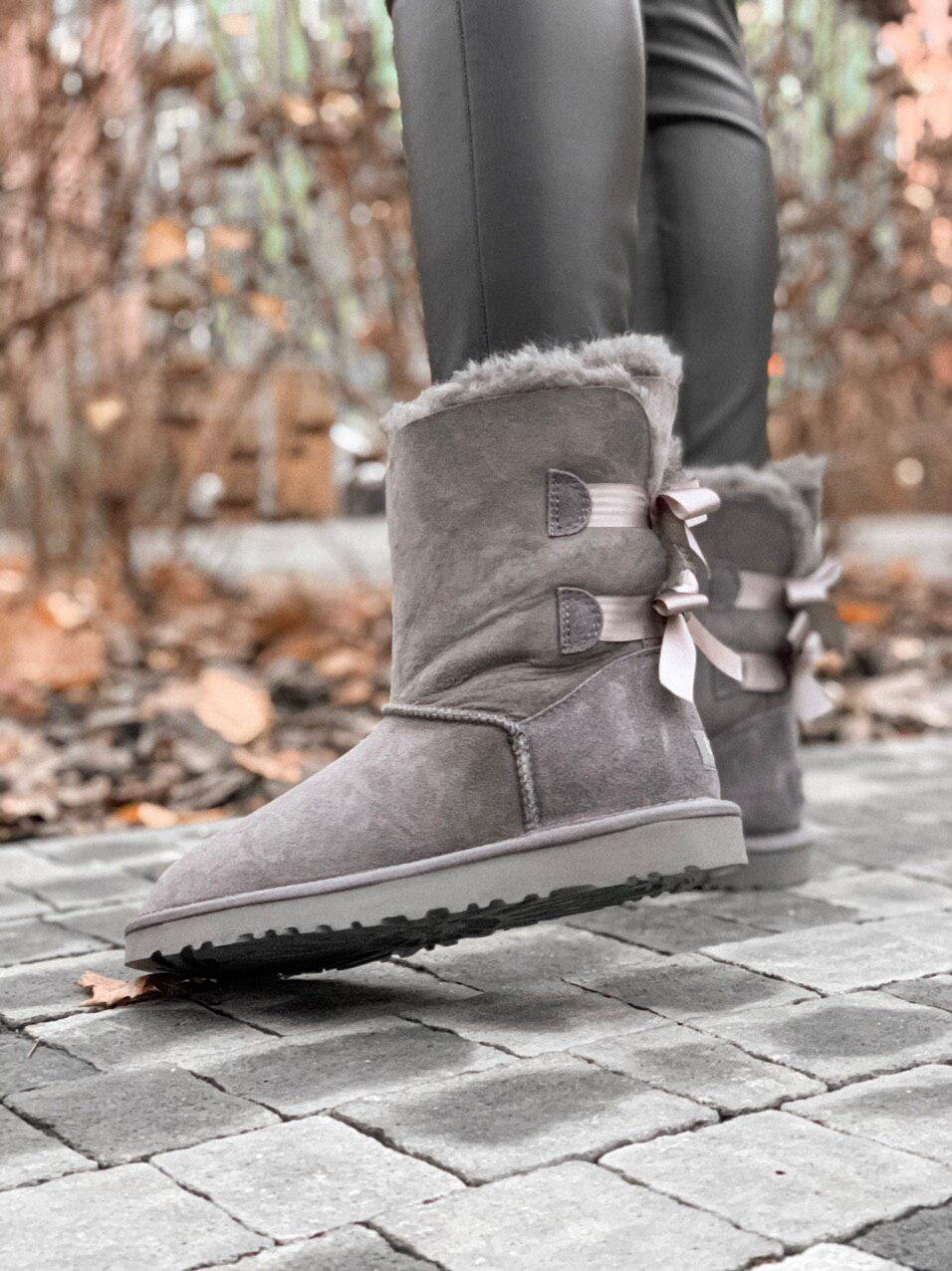 UGG Bailey Bow Grey Short ( Реплика ААА+ ), 36
