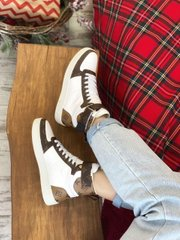 LV Sneakers Hight Brown White (Реплика ААА+)