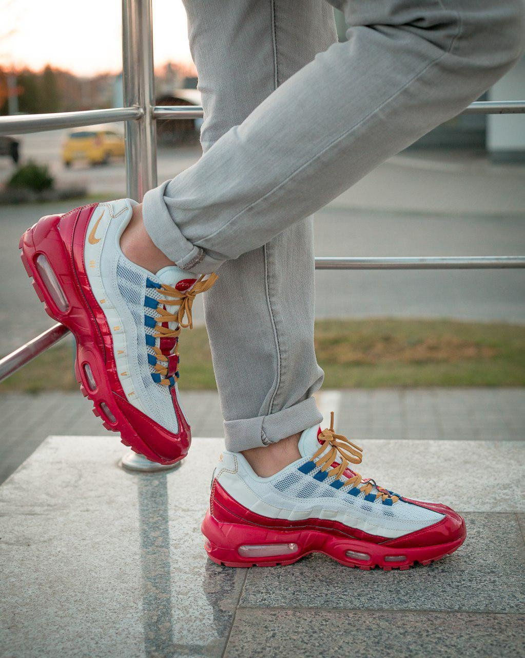 Кроссовки NK Air Max 95 Red White ( Реплика ААА+ ), 40